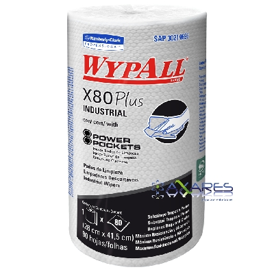 WypAll* X80 Regular Roll Plus Power Pockets