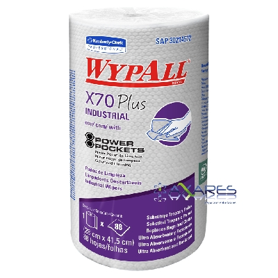 WypAll* X70 Plus Regular Roll Power Pockets