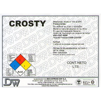 Desincrustrante Crosty